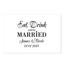 Eat drink and be married Postcards (Package of 8)