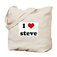 I Love steve Tote Bag