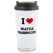 I love Seattle Washingt Thermos Mug