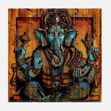 Blue Ganesha Tile Coaster