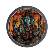 Blue Ganesha Wall Clock