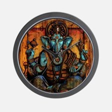 Blue Ganesha Wall Clock