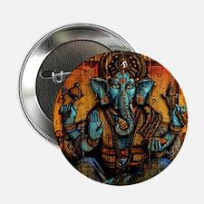 "Blue Ganesha 2.25"" Button"