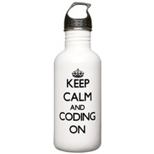 Keep Calm and Coding O Water Bottle