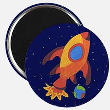 Blast Off Rocketship Magnet