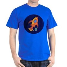 Blast Off Rocketship T-Shirt