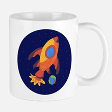 Blast Off Rocketship Mug