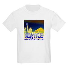 Seattle WA Golden Skyline T-Shirt