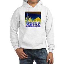 Seattle WA Golden Skyline Hoodie Sweatshirt
