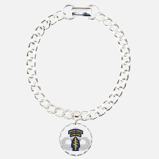 SF Airborne Master Charm Bracelet, One Charm