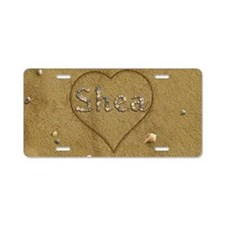 Shea Beach Love Aluminum License Plate
