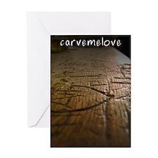 CarveMeLove Greeting Card