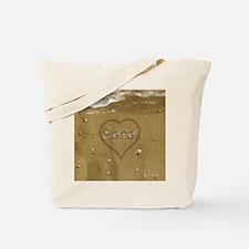 Sara Beach Love Tote Bag