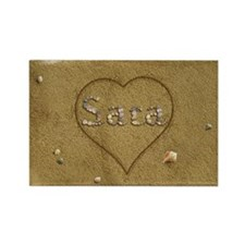 Sara Beach Love Rectangle Magnet