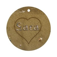 Sara Beach Love Ornament (Round)