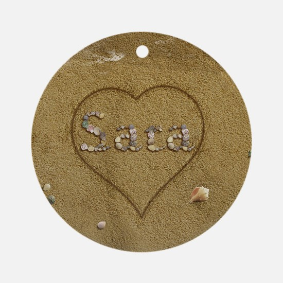 Sara Beach Love Ornament (Round)