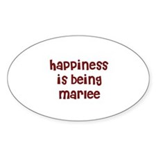 happiness is being Marlee Oval Decal
