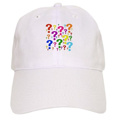 Rainbow Question Marks Cap