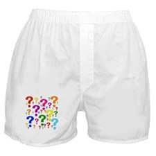 Rainbow Question Marks Boxer Shorts