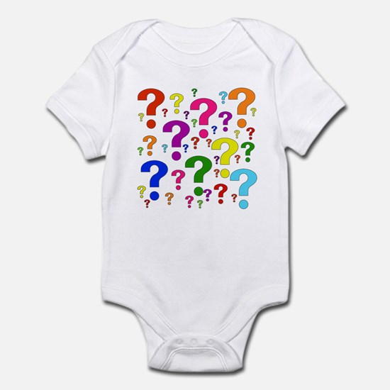 Rainbow Question Marks Infant Bodysuit