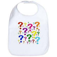 Rainbow Question Marks Bib