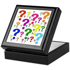 Rainbow Question Marks Keepsake Box
