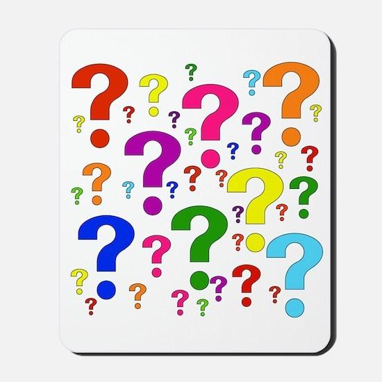 Rainbow Question Marks Mousepad