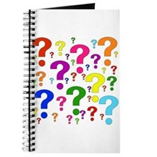 Rainbow Question Marks Journal