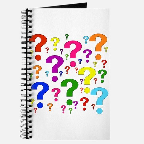 Rainbow Question Marks Journal