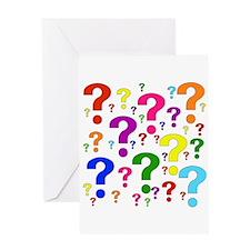 Rainbow Question Marks Greeting Card