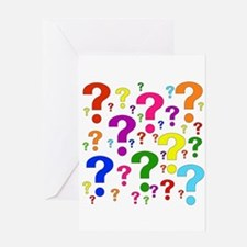 Rainbow Question Marks Greeting Card