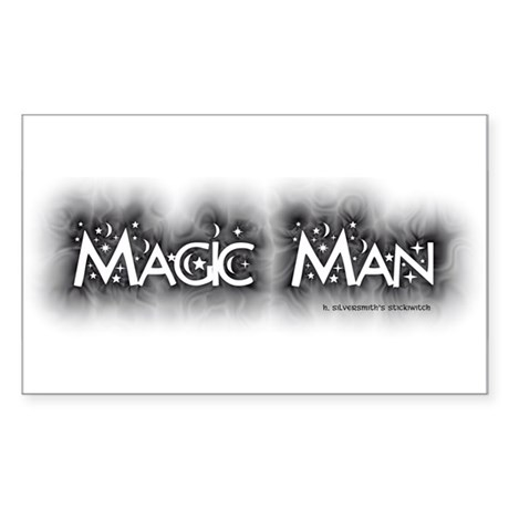Magic Man (Pagan/Wiccan Bumper Sticker Rect.)