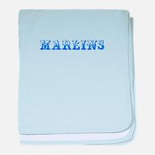Marlins-Max blue 400 baby blanket