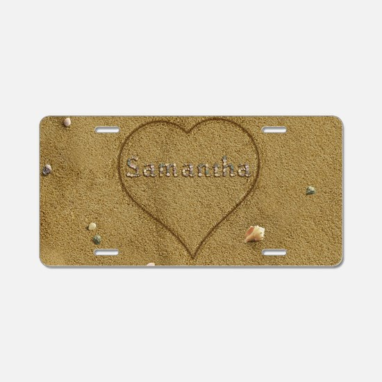Samantha Beach Love Aluminum License Plate