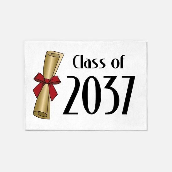 Class of 2037 Diploma 5'x7'Area Rug
