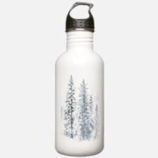 Winter Trees Sports Water Bottle