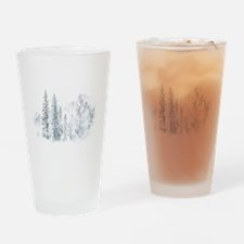 Winter Trees Drinking Glass