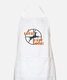I Love Fast Food Apron