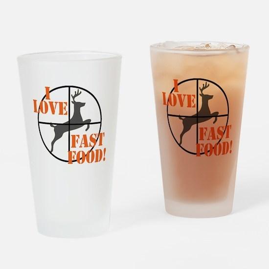 I Love Fast Food Drinking Glass
