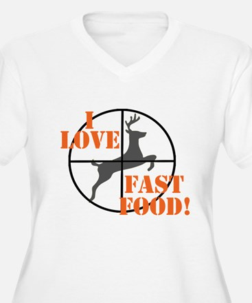 I Love Fast Food Plus Size T-Shirt