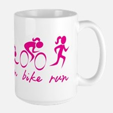 Swim Bike Run (Girl) Mugs