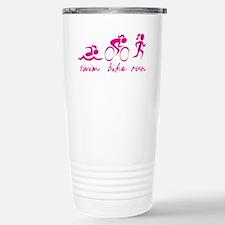 Swim Bike Run (Girl) Travel Mug