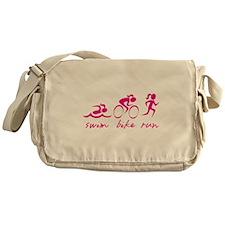 Swim Bike Run (Girl) Messenger Bag