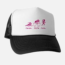 Swim Bike Run (Girl) Trucker Hat