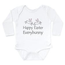 Cute Pink bunny Long Sleeve Infant Bodysuit