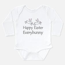 Unique Pink bunny Long Sleeve Infant Bodysuit
