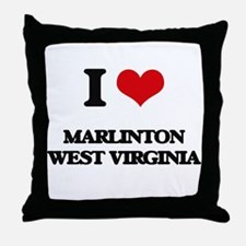 I love Marlinton West Virginia Throw Pillow
