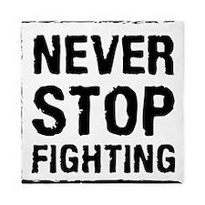 Never Stop Fighting (Black) Queen Duvet