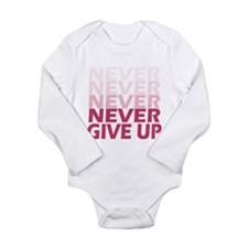 Never Give Up Pink Light Body Suit