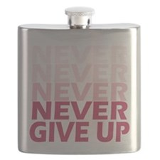 Never Give Up Pink Light Flask